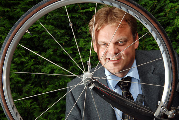 Biking lawyer's charity cycle