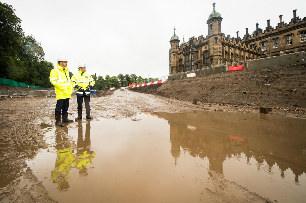The Crescent at Donaldson's - PR photographs on construction site
