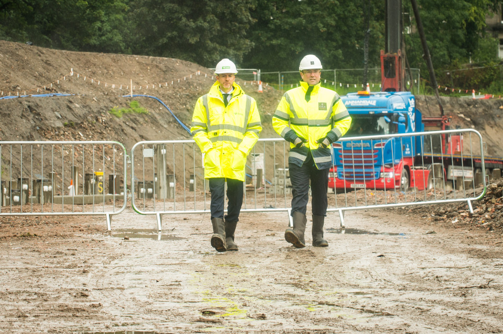 PR photographs at CALA Homes building site