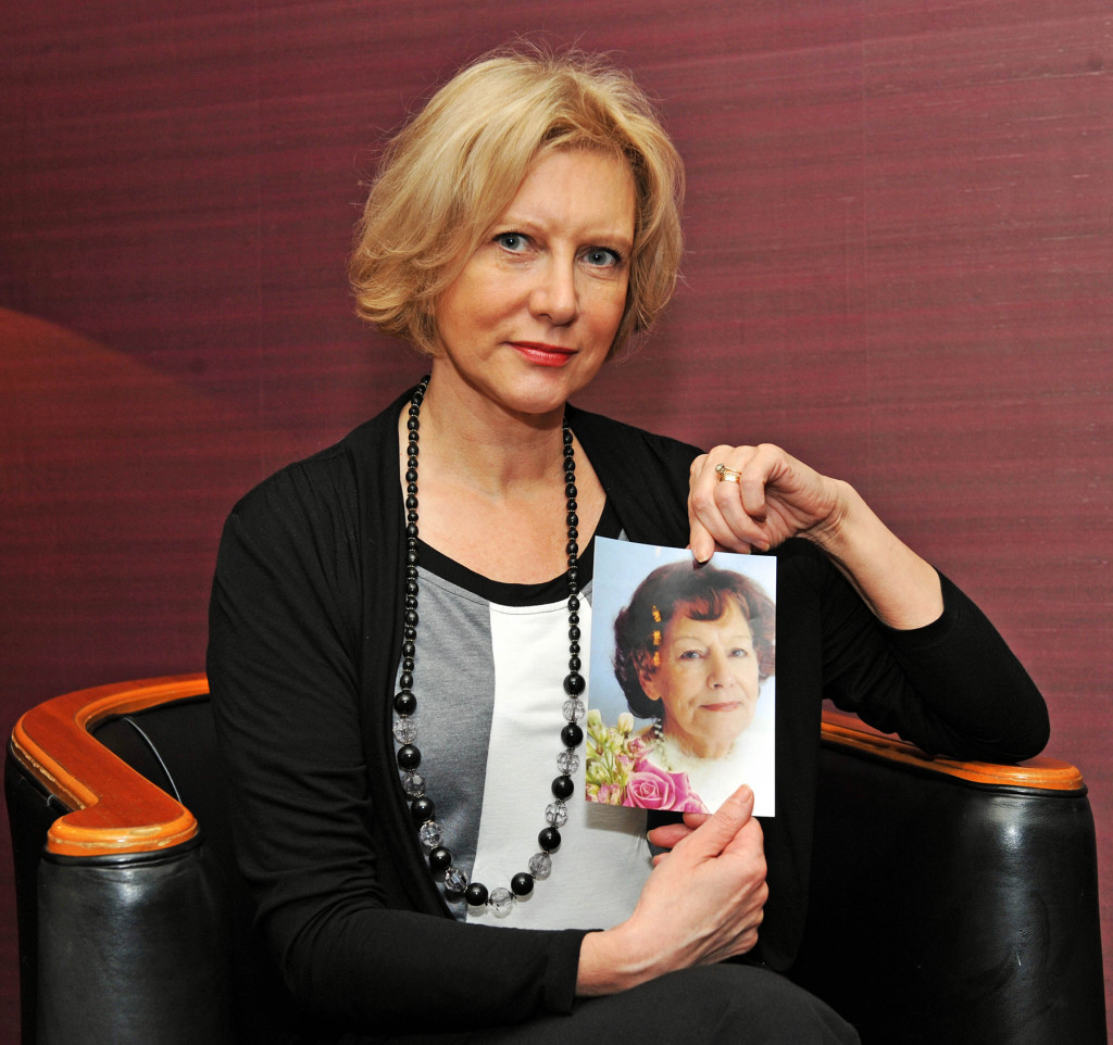 PR photography of Marilyn Baldwin, head of the Think Jessica campaign in memory of her mother