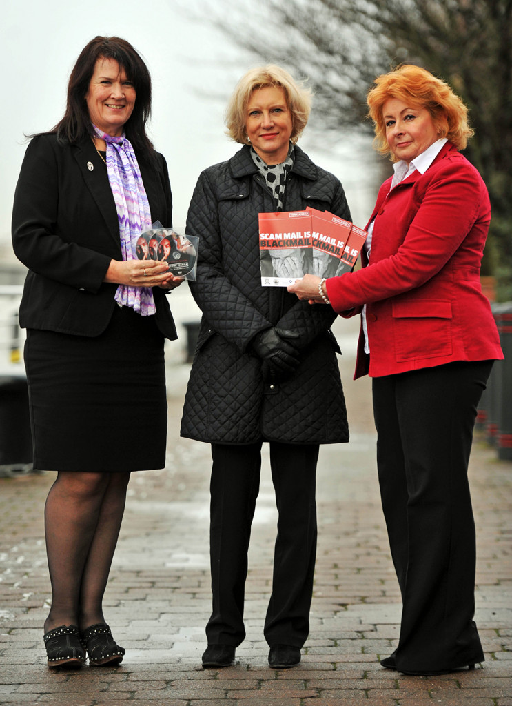 Marilyn Baldwin, centre, launches the Think Jessica campaign in memory of her mother