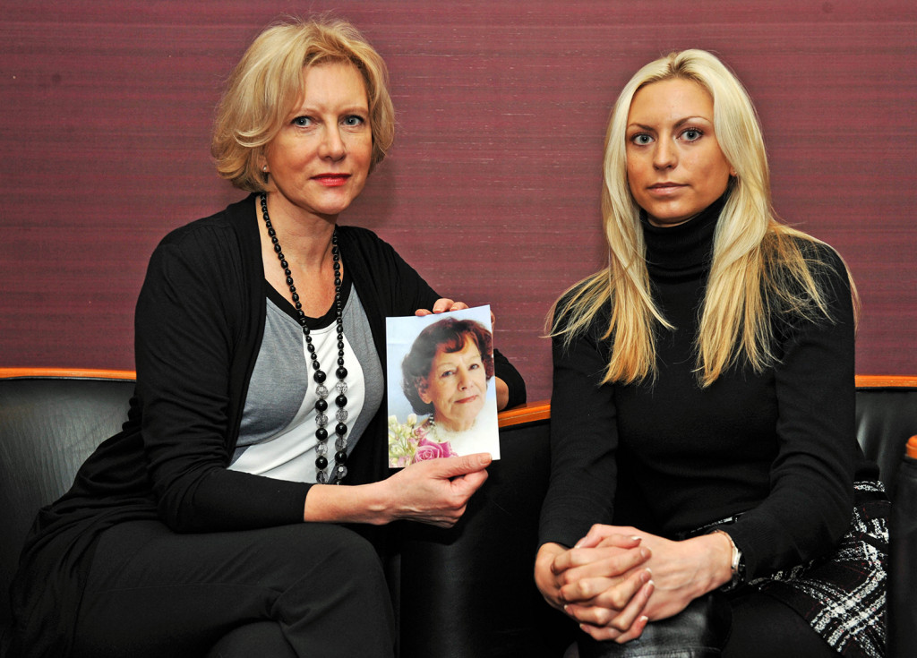 PR photography of Marilyn Baldwin and daughter Natalie Baldwin, of the Think Jessica campaign in memory of her mother