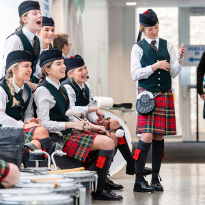Scottish PR photograph from the Scottish Schools Pipe Band Championships 2020