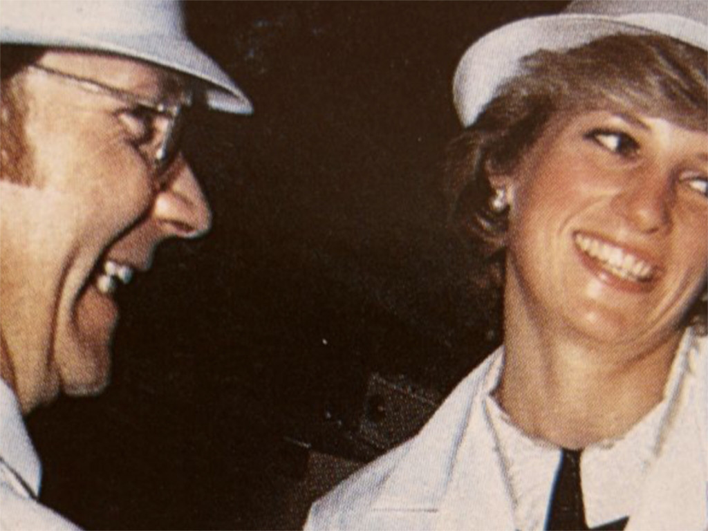 Derek Shaw with Princess Diana