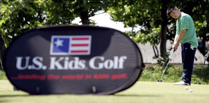 PR photography of U.S, Kids Golf practice