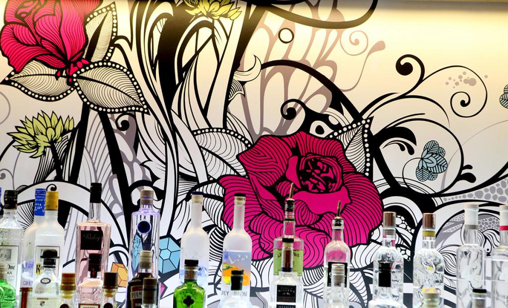 Beautiful bar artwork at Hyde Out