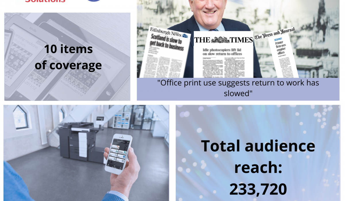 Scottish PR photography Capital Document solutions success post graphic