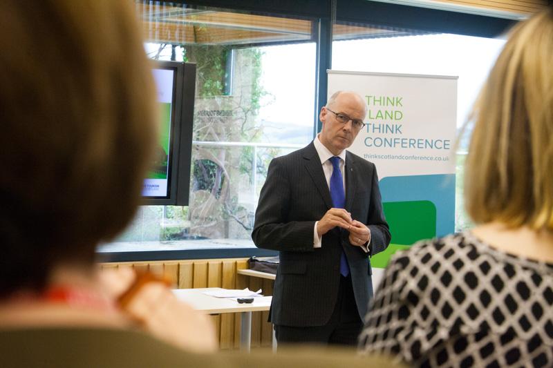 John Swinney addresses Perth businesses