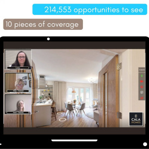 Property PR guaranteed that potential buyers knew about CALA Homes' virtual tours option
