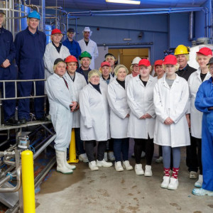 An image of Mackie's of Scotland's staff, within the ice cream factory at its farm in Aberdeenshire