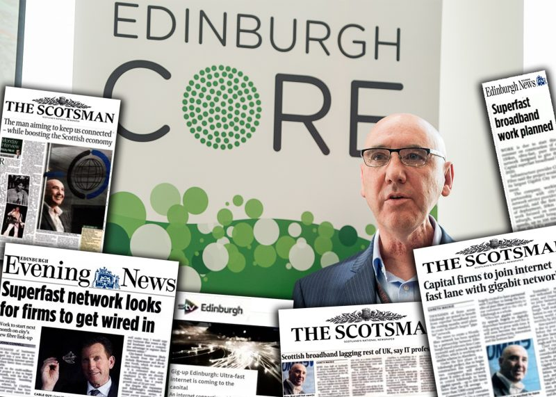 Media coverage of Commsworld and Cityfibre launch of pure fibre network shared by Tech PR agency