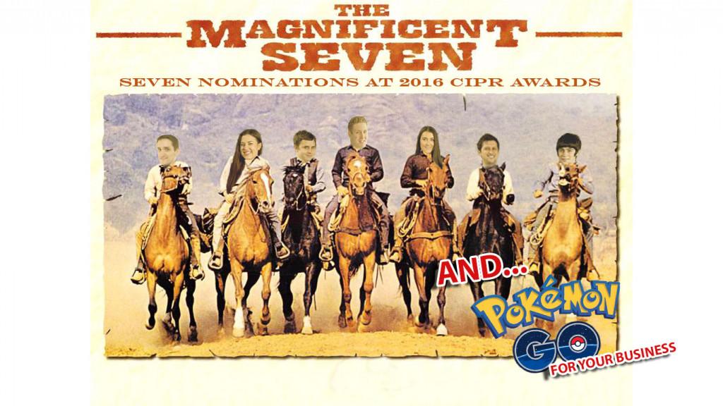 Spoof montage celebrating award winning PR agency's latest seven award nominations