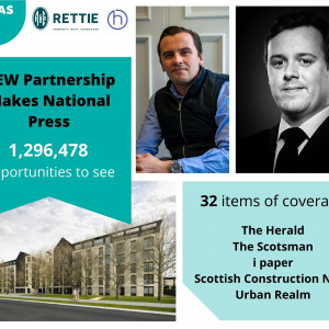 Property PR success post graphic on the Dundas Estates and Rettie & Co. partnership release by Edinburgh public relations experts Holyrood PR.