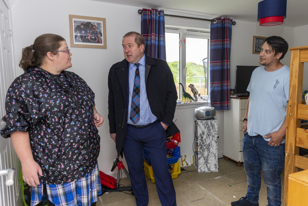 Cairn Housing Association  is officially opened by Graeme Dey MSP.