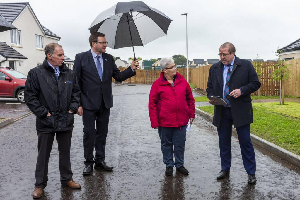 Cairn Housing Association, in partnership with Angus Housing Association is officially opening its new development of 71 much needed affordable homes. PR photography captures the day
