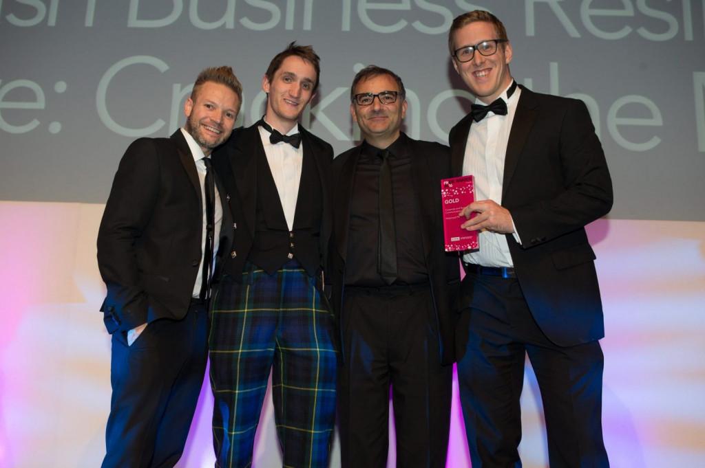 Award winning PR agency, Holyrood PR in Scotland at 2016 PR awards