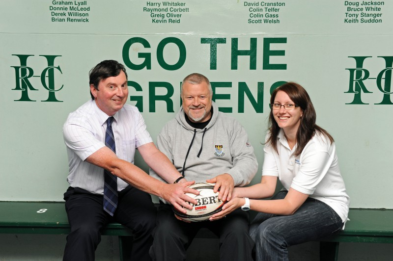 Hawick rugby sponsorship deal, marked with PR photography by Edinburgh public relations agency