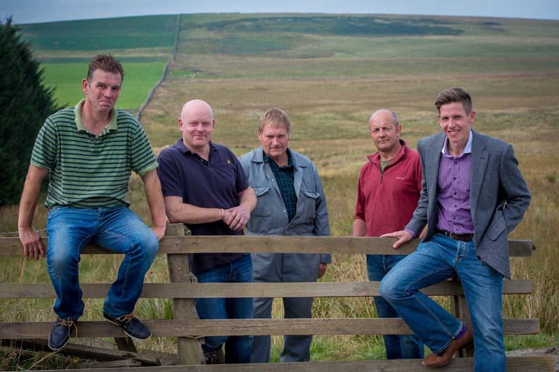 LtR Neil Hamilton, Scotty Bell, Glen Wilson, John Douglas and Miles Crossley
