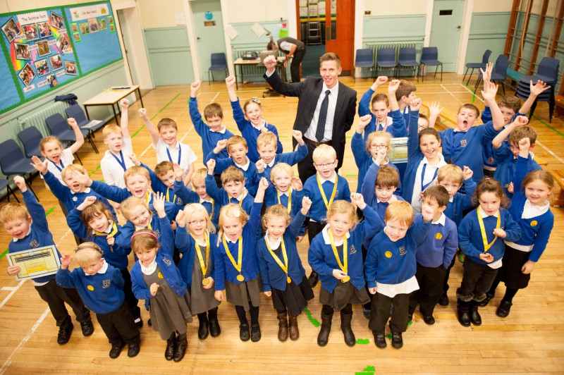 Hawick primary school reading medals