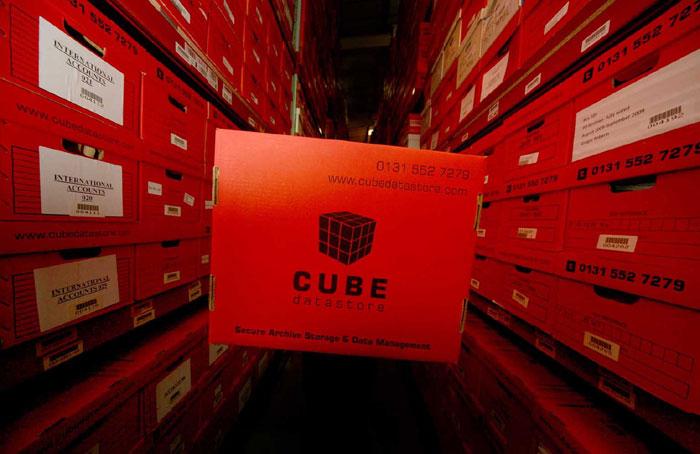 Dramatic PR images for Cube Datastore in Edinburgh