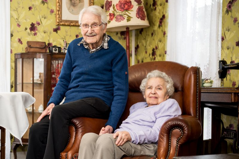 An older couple together in a Scottish Care home