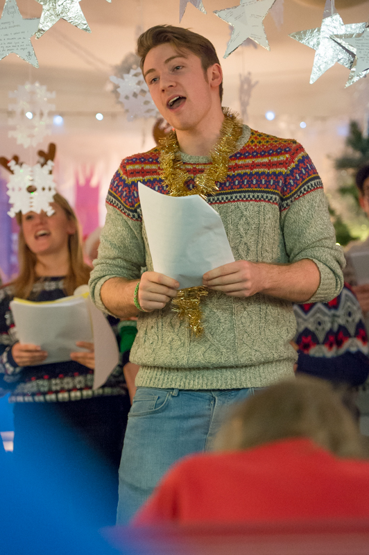 Cast of Wicked perform at Bupa Care home
