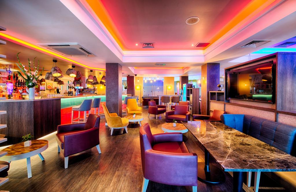 The bar at the Leonardo Hotel in Edinburgh, Scotland