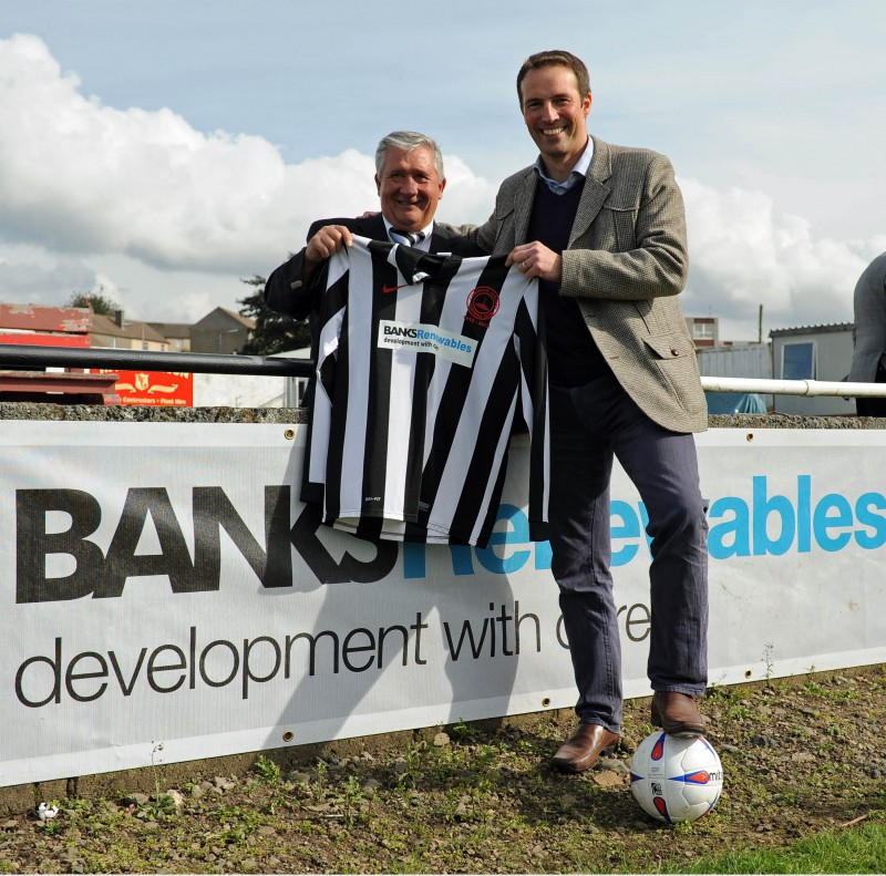 Wind farm company sponsors Cumnock Juniors