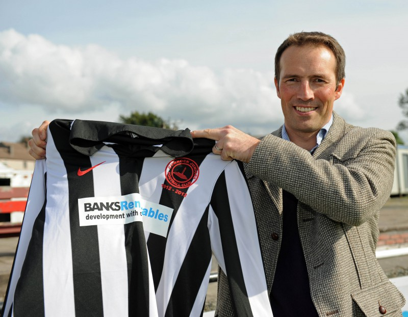 Cumnock Juniors get wind farm sponsorship