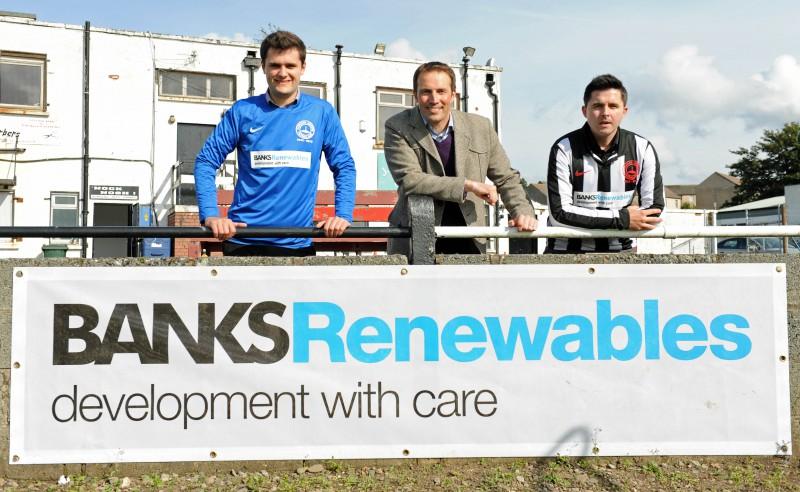 Cumnock Juniors win sponsorship from Banks Renewables