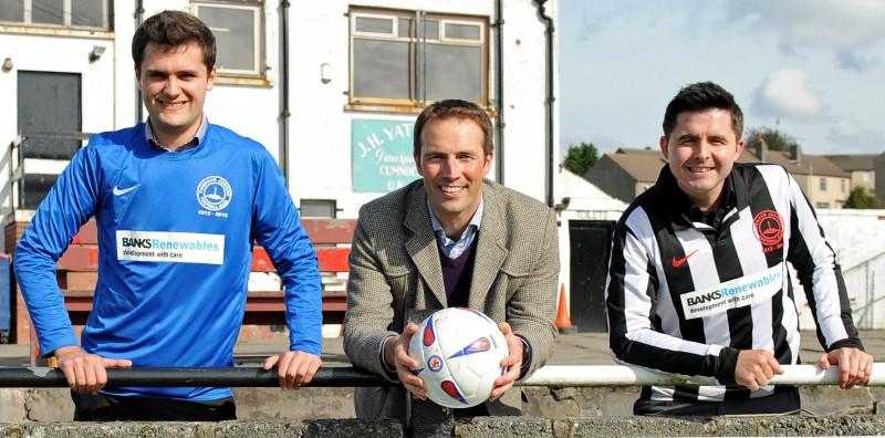 Banks Renewables sponsor Cumnock Juniors PR photography