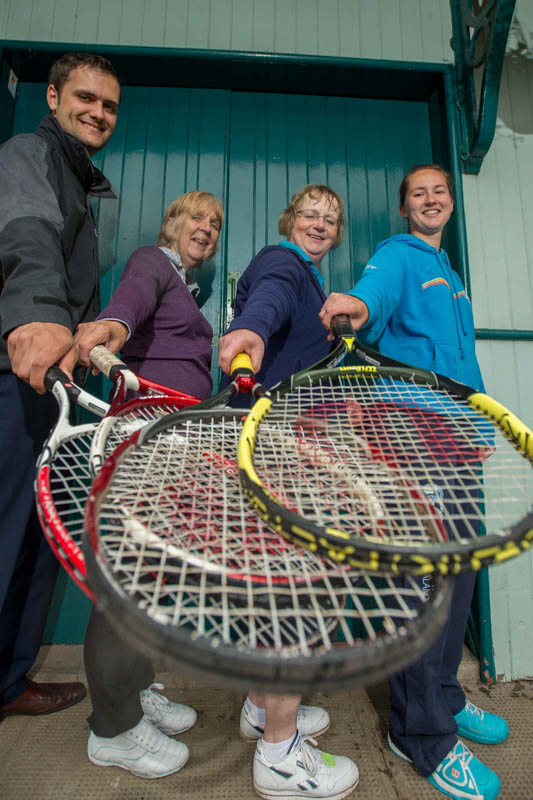 Tennis club PR photos for Banks Renwables