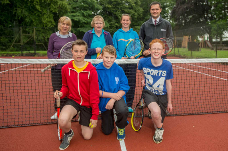 Tennis club PR photography for Bank Renewables