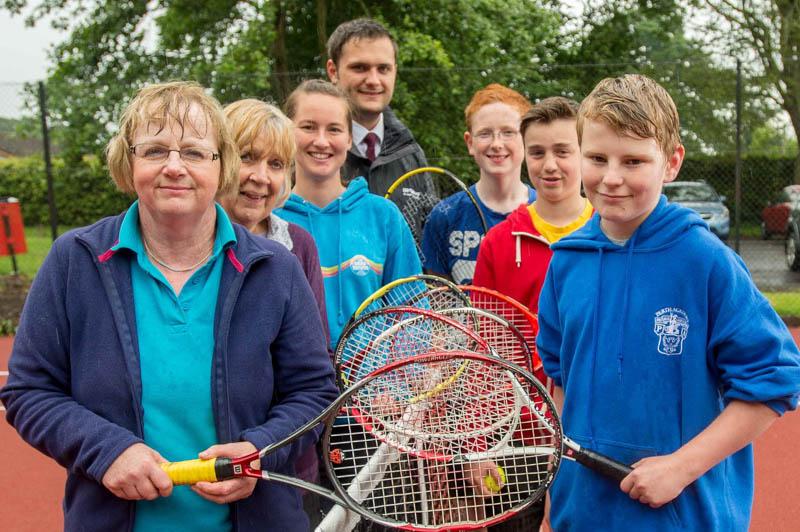 Burrelton Tennis PR pictures for Banks Renewables