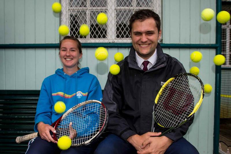 Tennis club PR photos for Banks Renewables