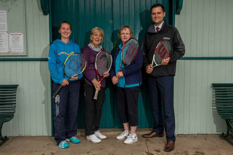 Tennis club PR photography for Banks Renewables