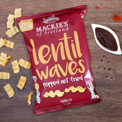 Food and Drink PR photography, barbecue lentil waves by Mackies Taypack.