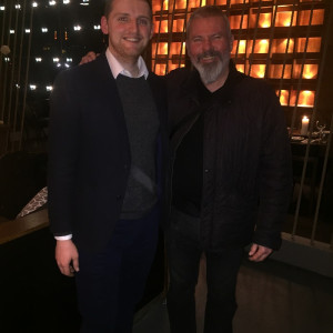 Football legend Brian McClair at a restaurant PR event