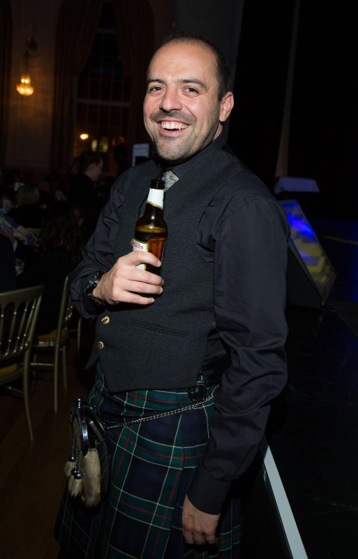 Brian Lewis , Account Director with Holyrood PR in Edinburgh, Scotland, celebrates winning multiple gold PR  awards