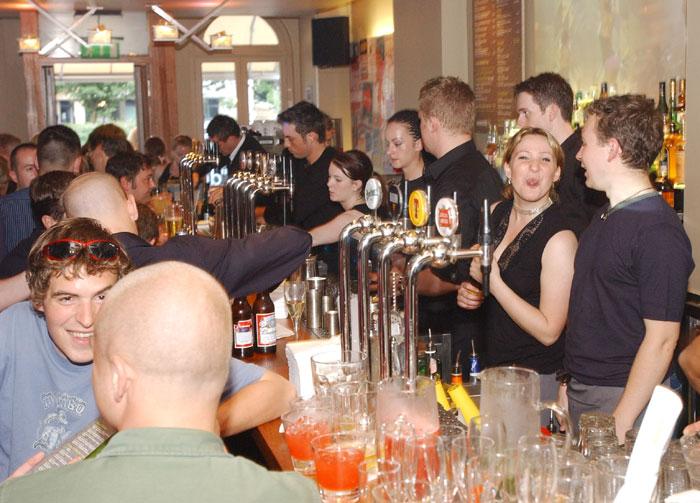 Public relatons photographs for Scottish pub launch