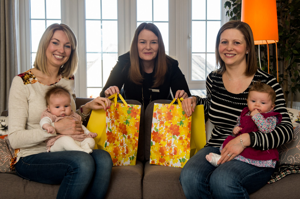 New mums and babies celebrated at CALA Homes Craigpark development - and captured in property PR photography