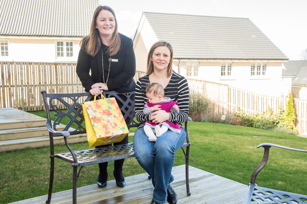 Residents of the new CALA Homes development at Craigpark, in Ratho, near Edinburgh, have welcomed two new neighbours - a pair of newborn babies | property PR photography