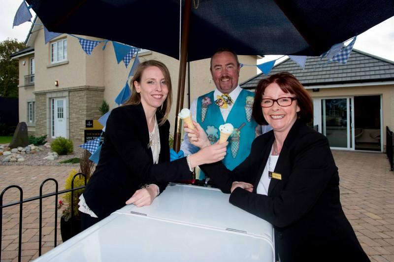 PR photos of CALA Homes ice cream giveaway