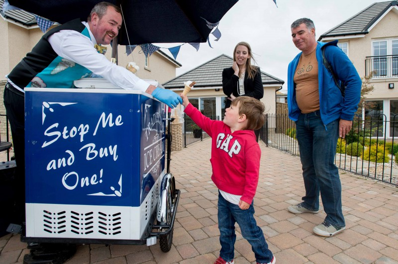 CALA Homes ice cream giveaway PR images