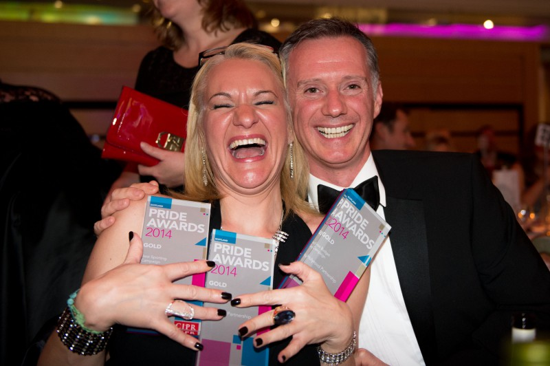 2014 CIPR awards where Holyrood PR in Edinburgh won five PR awards
