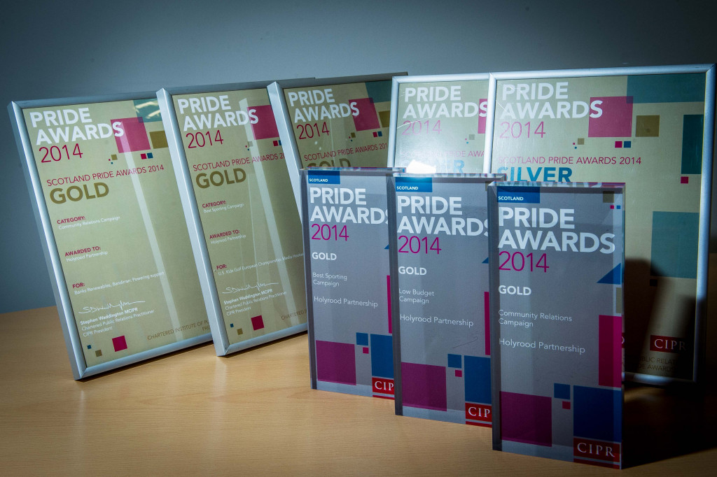 2014 CIPR Scotland PR awards won by Scottish public relations agency Holyrood PR in Edinburgh