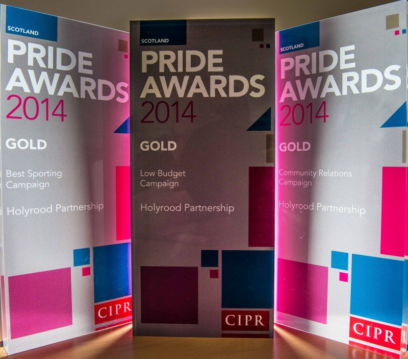 Three gold PR awards won by Holryood PR at the 2014 CIPR Scotland PR awards