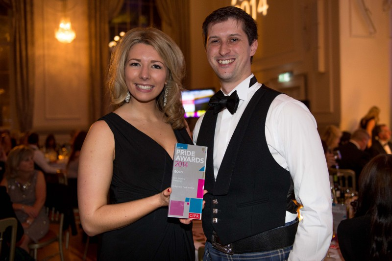 Five PR awards went to Edinburgh public relations agency Holyrood PR at the 2014 CIPR awards