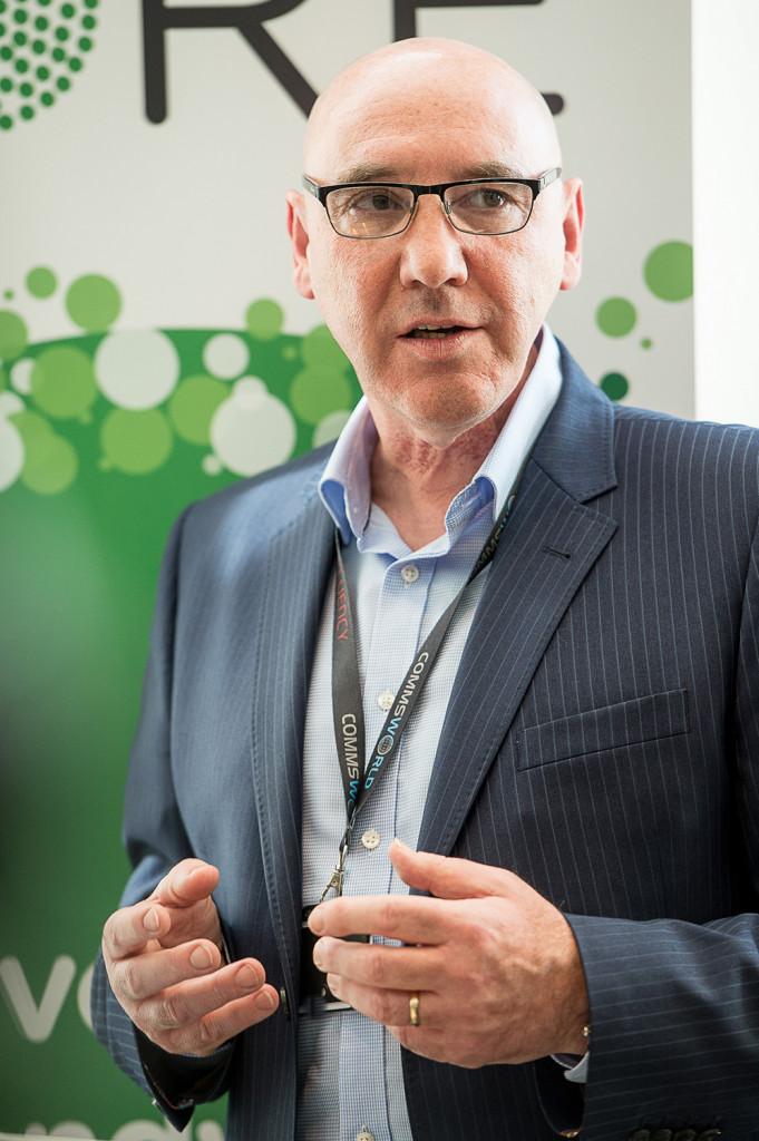 Ricky Nicol, Commsworld CEO pictured in a tech PR photo at Commsworld and CityFibre launch