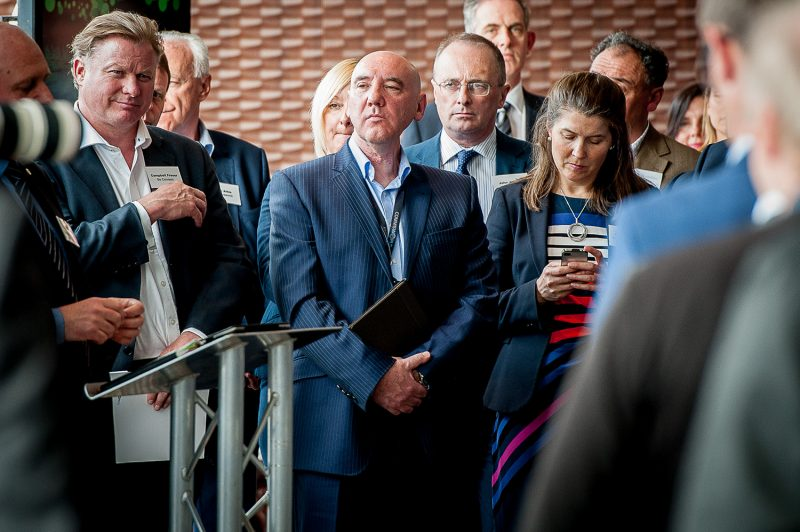 A tech PR photo of Ricky Nicol of Commsworld in the audience at the Commsworld and CityFibre launch event